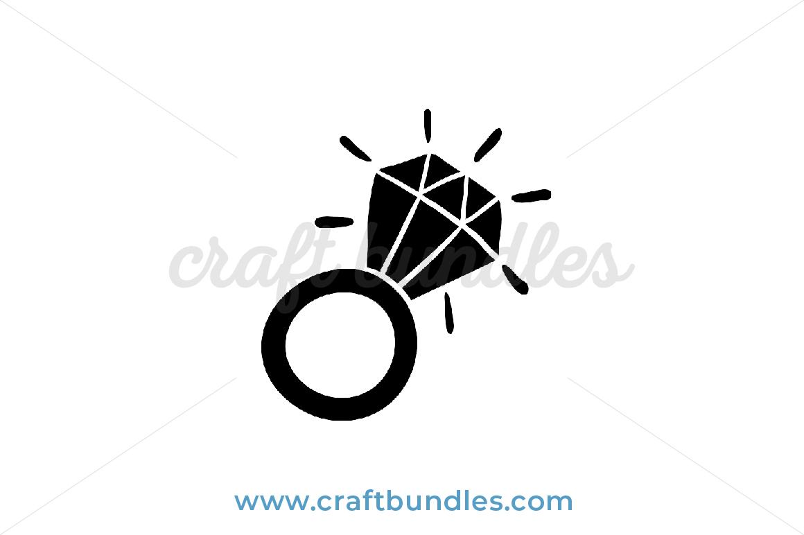 Diamond Ring Svg Cut File Craftbundles