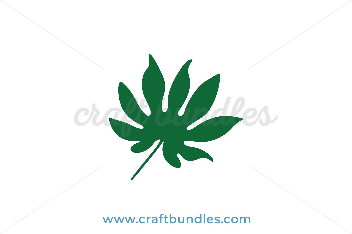 Tropical Leaf Svg Cut File Craftbundles