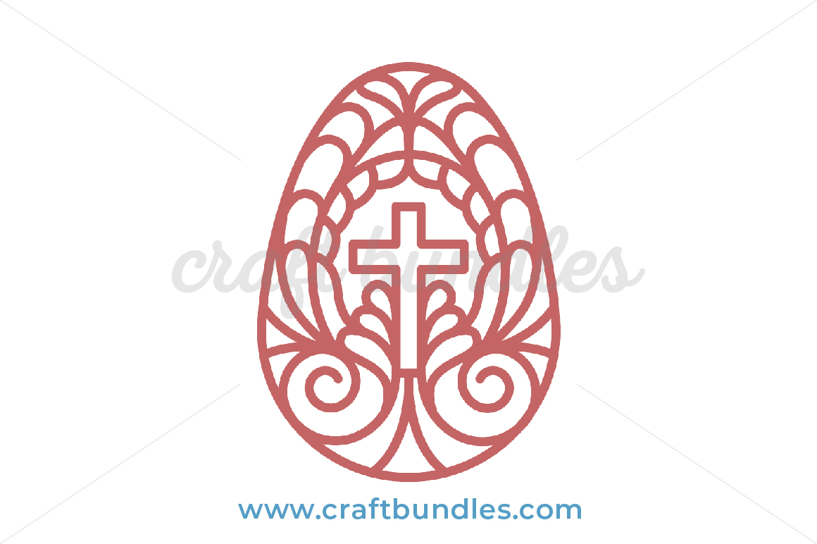 50+ Happy Easter – Cross And Egg – Svg File Image