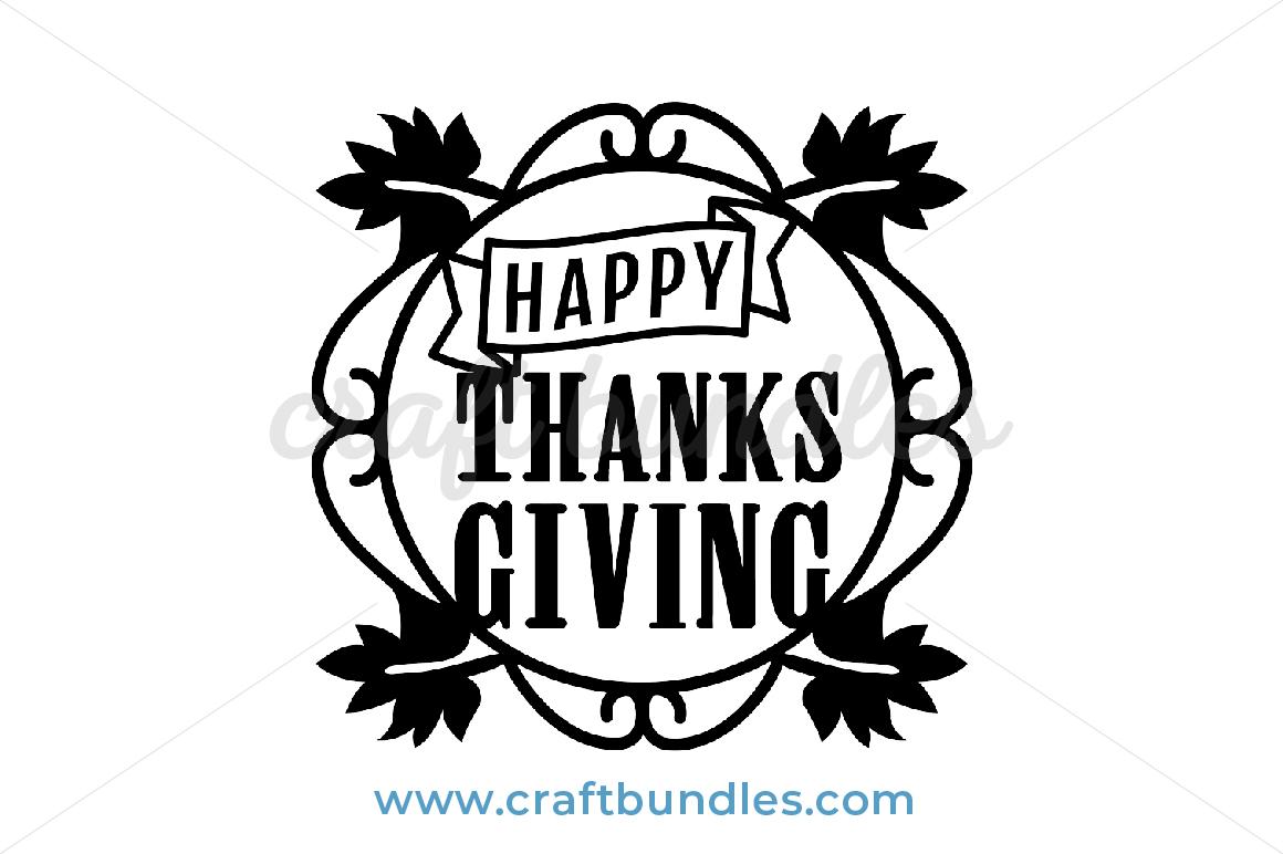 Happy Thanksgiving Day Svg Cut File Craftbundles