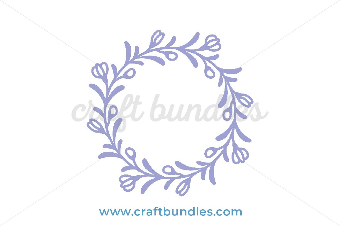 Floral Wreath Svg Cut File Craftbundles