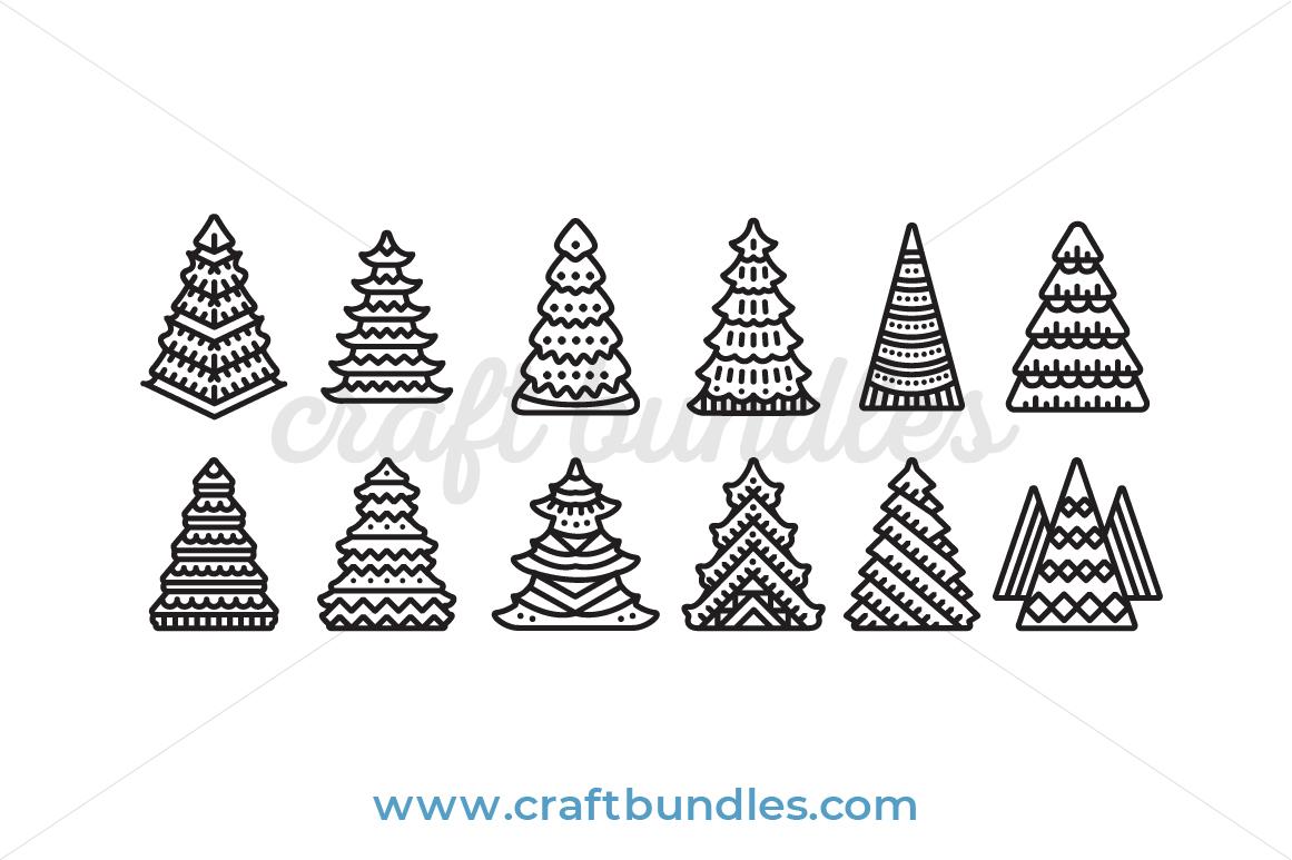 Christmas Tree Svg Cut File Craftbundles